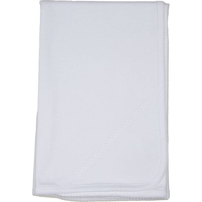 Classic Receiving Blanket, White