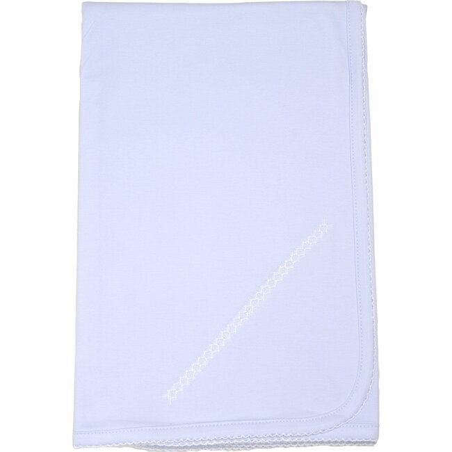 Classic Receiving Blanket, Light Blue