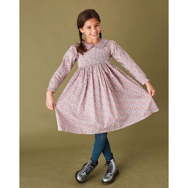 Madelyn Liberty Fabric Dress, Pink