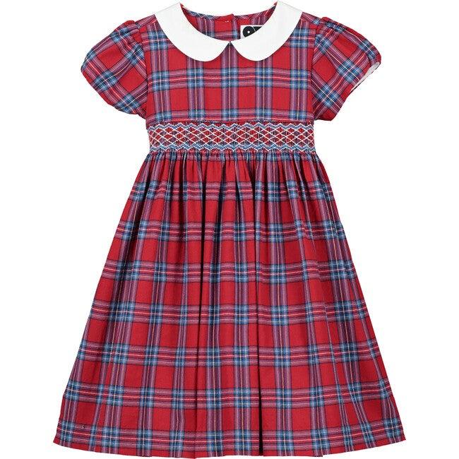Josephine Smocked Dress, Red
