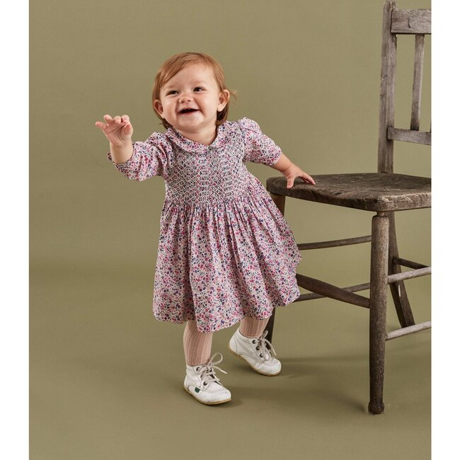 Leila Liberty Fabric Baby Dress, Pink