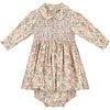 Emerson Smocked Baby Dress, Green & Yellow - Dresses - 1 - thumbnail