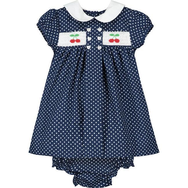 Franny Smocked Baby Dress, Cherries