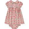 Ember Liberty Fabric Baby Dress, Red & Green - Dresses - 1 - thumbnail