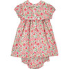 Ember Liberty Fabric Baby Dress, Red & Green - Dresses - 3