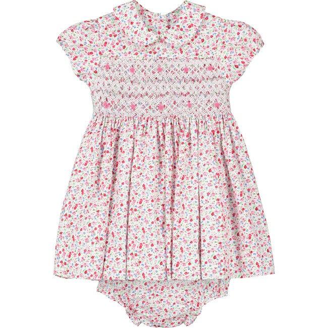 Eden Smocked Baby Dress, Pink