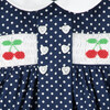 Franny Smocked Baby Dress, Cherries - Dresses - 4