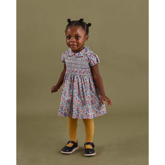 Daniella Liberty Fabric Baby Dress, Multi