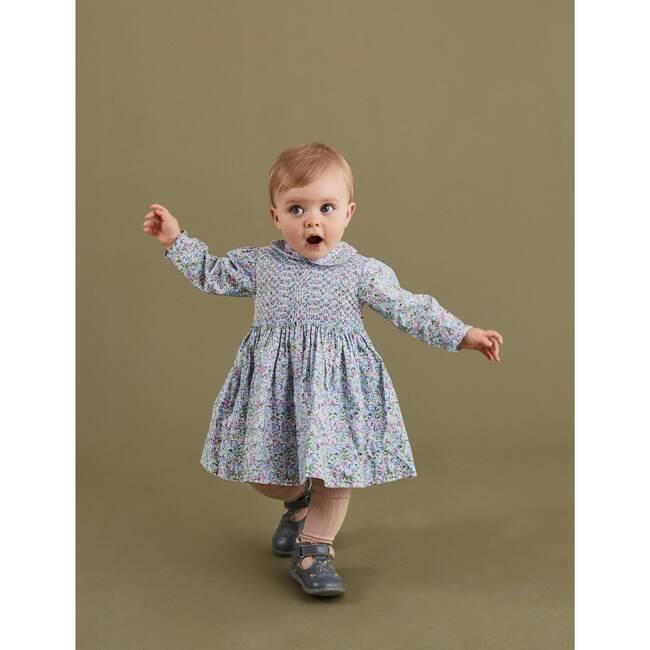 Eloise Smocked Baby Dress, Blue