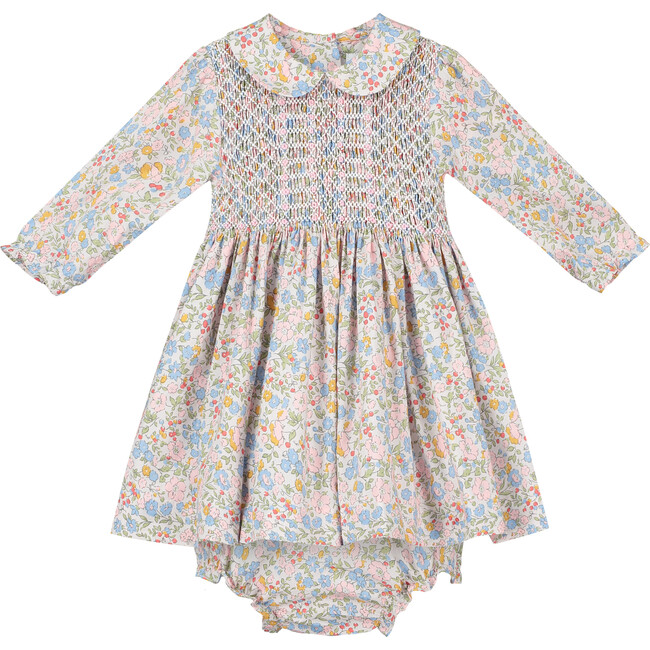 Cecilea Smocked Baby Dress, Multi