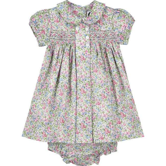Ayla Smocked Baby Dress, Multi