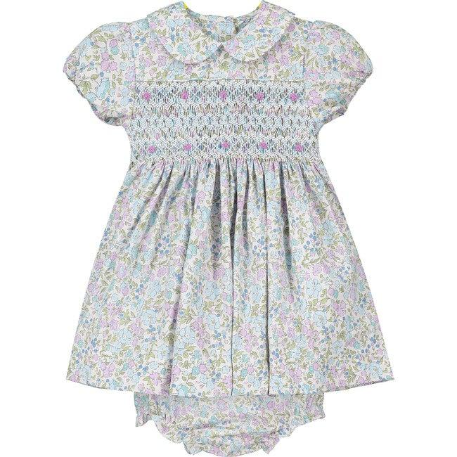 Ashley Smocked Baby Dress, Pastels
