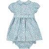 Valerie Smocked Baby Dress, Blue - Dresses - 3