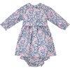 Vera Liberty Fabric Baby Dress, Pink & Navy - Dresses - 3