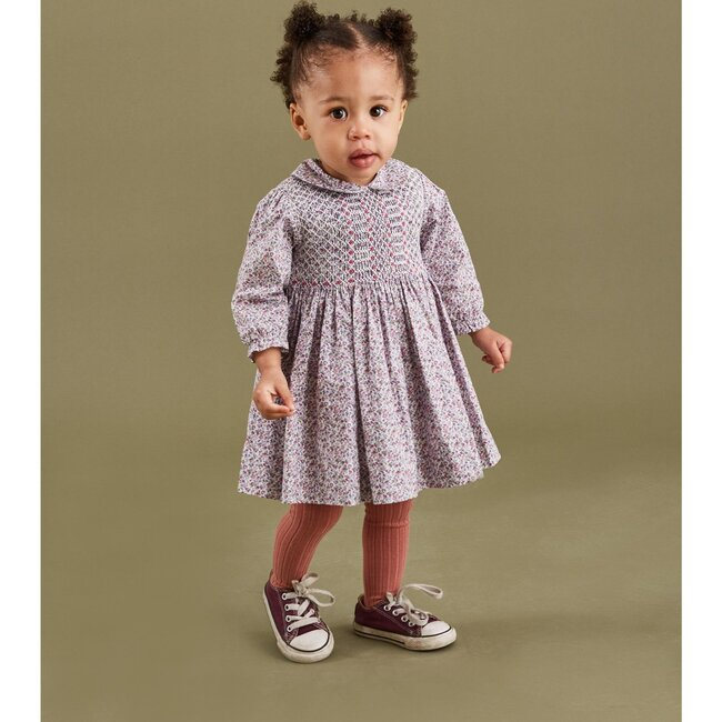 Remi Smocked Baby Dress, Pink