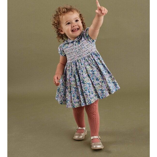 Norah Smocked Baby Dress, Blue