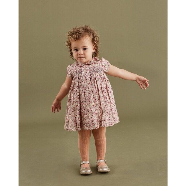 Naomi Smocked Baby Dress, Blush