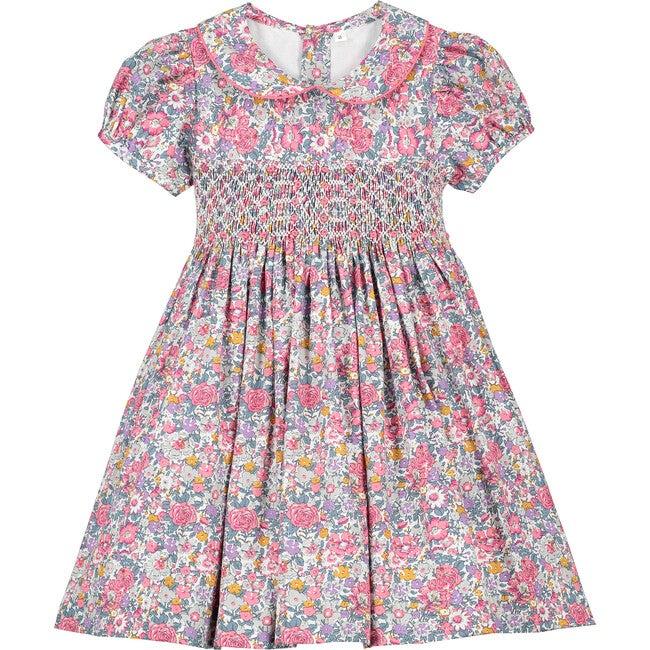Melanie Smocked Dress, Pink