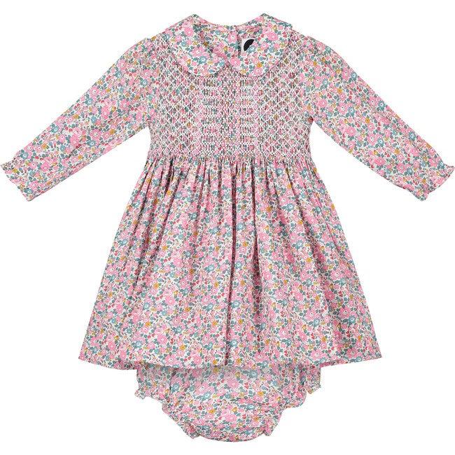 Alana Liberty Fabric Baby Dress, Multi