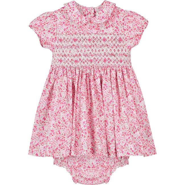 Amy Liberty Fabric Baby Dress, Pink