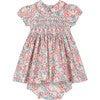 Amara Smocked Baby Dress, Pink & Blue - Dresses - 1 - thumbnail