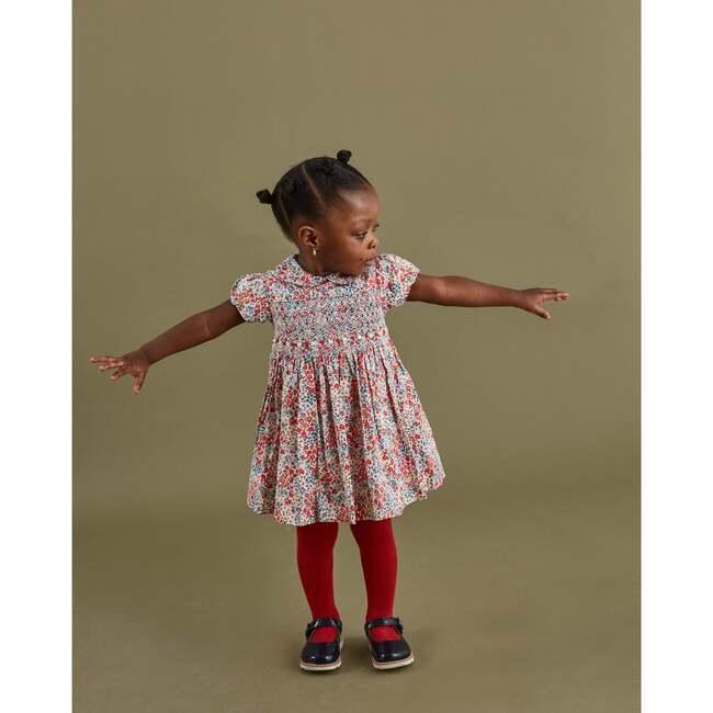 Amara Smocked Baby Dress, Pink & Blue