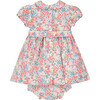Amara Smocked Baby Dress, Pink & Blue - Dresses - 3