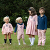 Check Bubble with Navy Trim, Coral - Rompers - 3