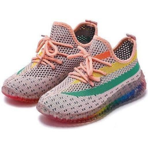 Peachy Rainbow Trainer Sneaker, Multi