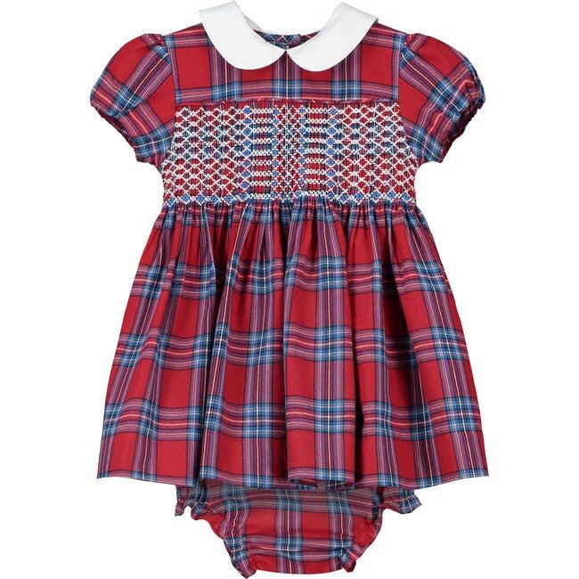 Charlie Smocked Baby Dress, Red