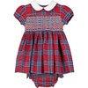 Charlie Smocked Baby Dress, Red - Dresses - 1 - thumbnail