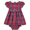 Charlie Smocked Baby Dress, Red - Dresses - 3