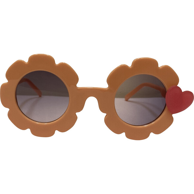 Matte Heart Sunglasses, Peach