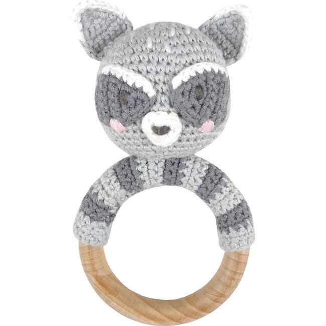 Crochet Raccoon Ring Rattle