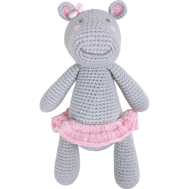 Crochet Harriet Hippo Rattle Toy