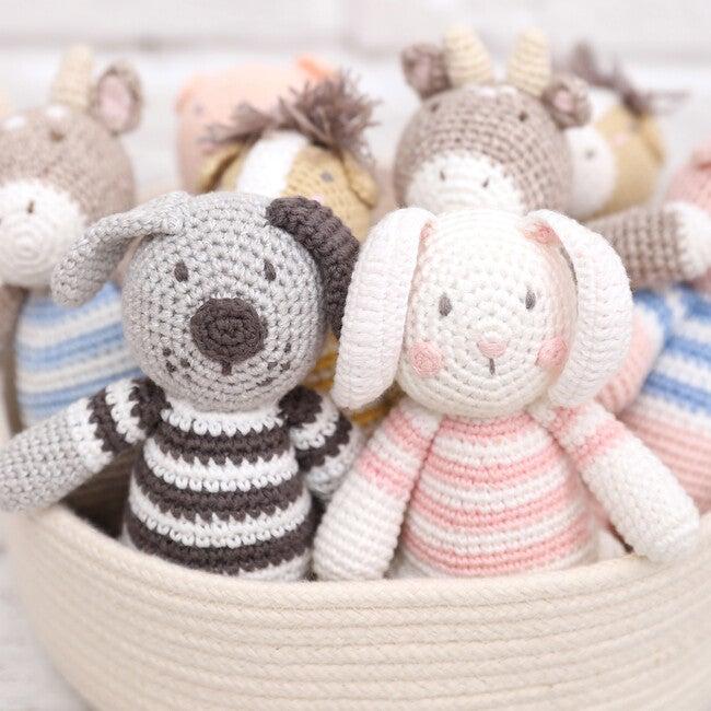 Crochet Bunny Rattle Toy