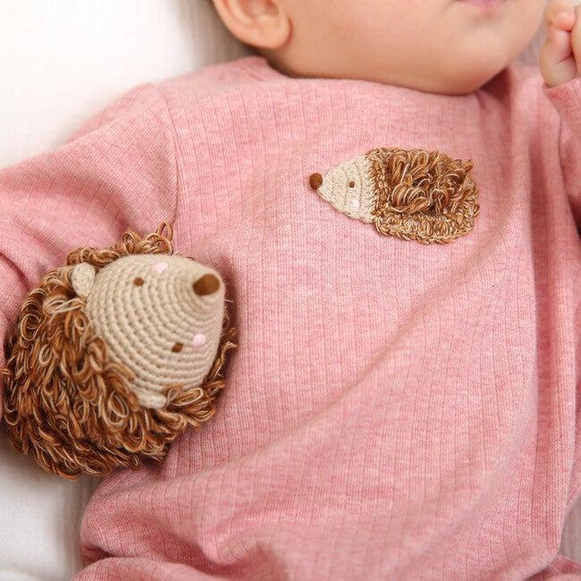 Crochet Hedgehog Rattle Toy