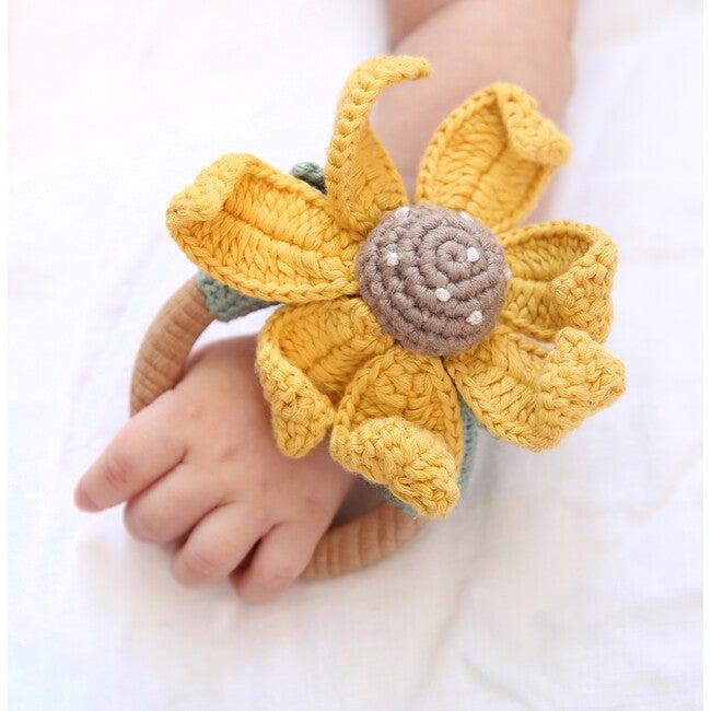 Crochet Sun Flower Ring Rattle