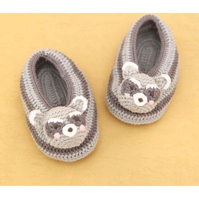 Crochet Raccoon Booties