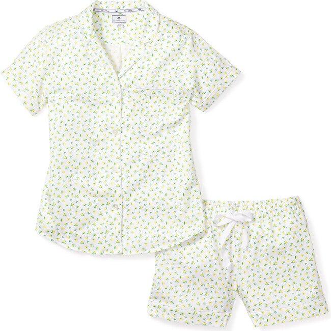 Women's Short Sleeve Short Set, Citron