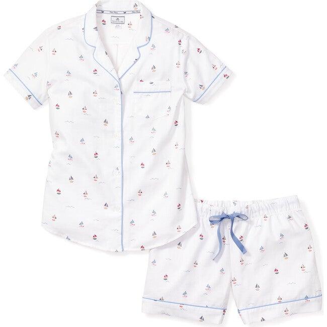 Women's Short Sleeve Short Set, Bateau