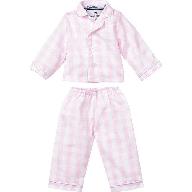 Pink Gingham Doll Pajamas