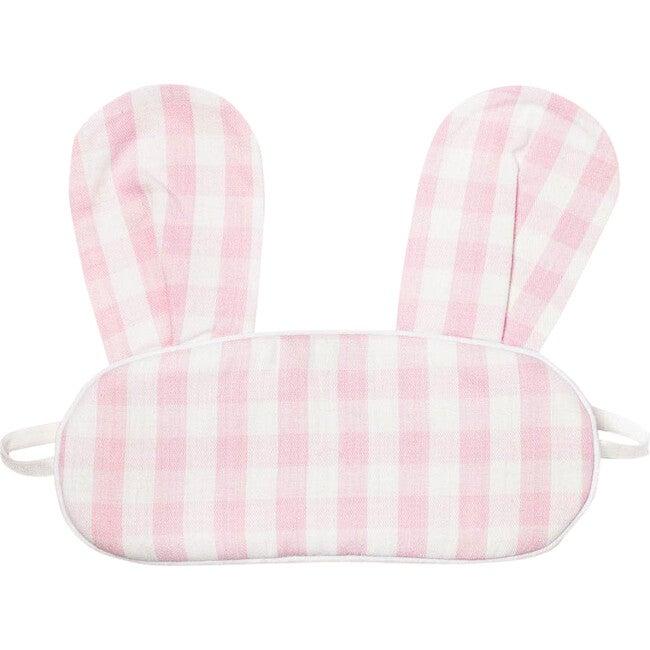 Pink Gingham Bunny Eyemask - Eye Masks - 1
