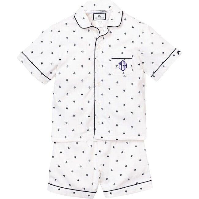 Monogrammed Nautical Sailboat Short Set - Pajamas - 1