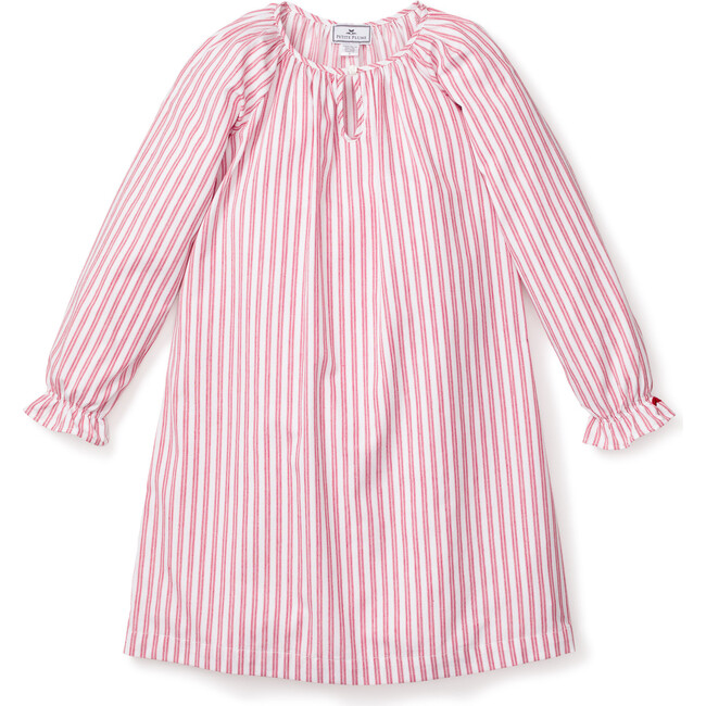Nightgown, Antique Red Ticking