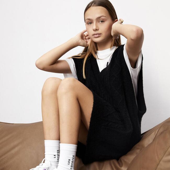 Ted Sweater Vest Dress, Black