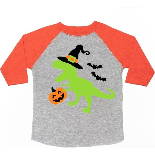Spookysaurus L/S Shirt, Heather & Orange