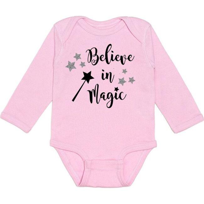 Believe in Magic L/S Bodysuit, Pink