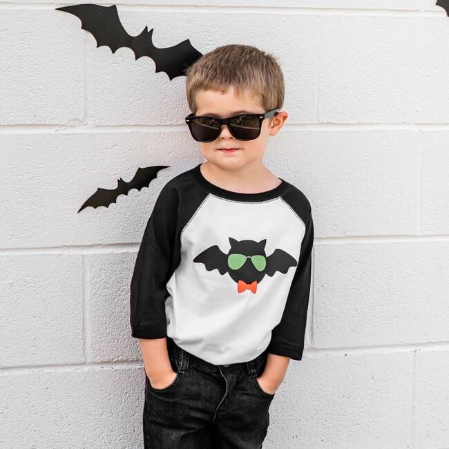 Cool Bat L/S Bodysuit, White
