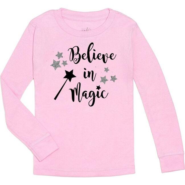 Believe in Magic L/S Shirt, Pink